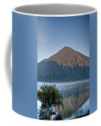 Volcano And Reflection Lake Atitlan Guatemala Coffee Mug