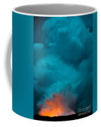 Volcano Smoke And Fire Coffee Mug