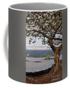 Volcano Through The Tree Coffee Mug