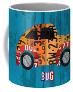Volkswagen Vw Bug Vintage Classic Retro Vehicle Recycled License Plate Art Usa Coffee Mug