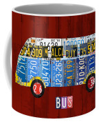 Volkswagen Vw Bus Vintage Classic Retro Vehicle Recycled License Plate Art Usa Coffee Mug