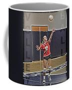 Volleyball Girl Coffee Mug by Kelley King