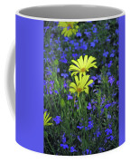 Voltage Yellow And Electric Blue 06 Coffee Mug