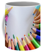 Vortex Of Colored Pencils Coffee Mug