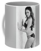 Voula Black And White Bikini Coffee Mug