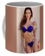Voula Blue Bikini Coffee Mug