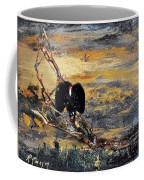 Vulture With Oncoming Storm Coffee Mug