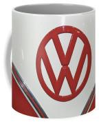 Vw Emblem In Red Coffee Mug