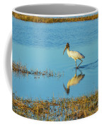 Wadding Wood Stork And Reflection Coffee Mug