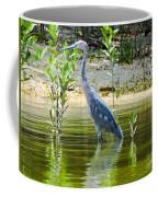 Wading Blue Heron Coffee Mug