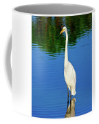 Wading Great White Egret Coffee Mug