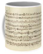 Wagner, Richard Autograph Working Drafts For Act I Of Der Fliegende Hollander Coffee Mug