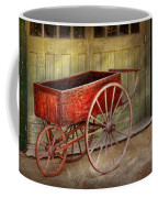 Wagon - That Old Red Wagon  Coffee Mug by Mike Savad