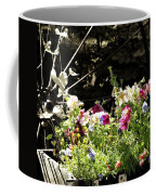 Wagon Wheel And Flowers Coffee Mug