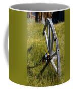 Wagon Wheel In Grass Coffee Mug