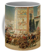 Wagons Detail From Israel In Egypt Coffee Mug