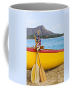 Waikiki Canoe Paddles Coffee Mug