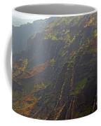 Waimea Canyon On A Misty Day In Kauai Coffee Mug
