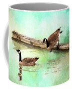 Wait For Me - Wildlife Art Coffee Mug by Jordan Blackstone