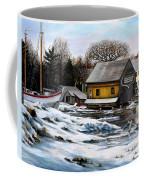 Essex Boatyard, Winter Coffee Mug