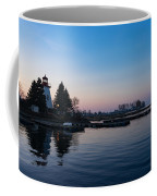 Waiting For Sunrise - Blue Hour At The Lighthouse Infused With Soft Pink Coffee Mug