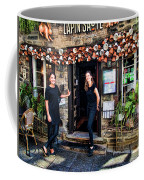 Waitresses At Outdoor French Terroir In Old Quebec City Coffee Mug