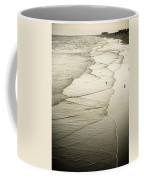 Walking Along The Beach At Sunrise Coffee Mug