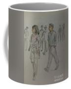 Walking Along The Strand Coffee Mug