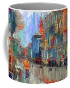 Walking Down Street In Color Splash Coffee Mug