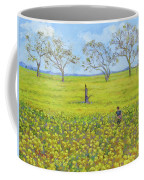 Walking In The Mustard Field Coffee Mug