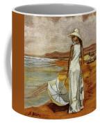 Walking On The Beach Coffee Mug