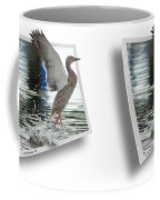 Walking On Water - Gently Cross Your Eyes And Focus On The Middle Image Coffee Mug