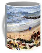 Walking The Beach On Long Beach Island Coffee Mug