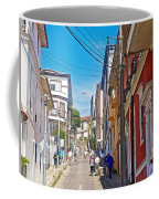 Walking Up Steep Streets In Hilly Valparaiso-chile Coffee Mug