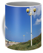 walkway along the Tel Aviv beach Coffee Mug