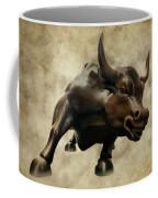 Wall Street Bull V Coffee Mug