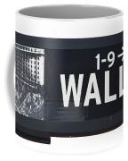 Wall Street Sign Close Up 1 Coffee Mug