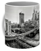 Walnut Street City View In Black And White Coffee Mug