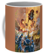 War Of The Worlds Coffee Mug by Barrie Linklater