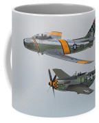 Warbirds Heritage F-86 Sabre And P-51 Mustang Coffee Mug