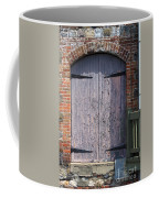 Warehouse Wooden Door Coffee Mug by Thomas Marchessault