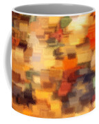 Warm Colors Under Glass - Abstract Art Coffee Mug