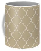 Warm Sand Quatrefoil Coffee Mug