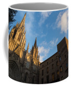 Warm Sun Glow On The Cathedral Of Barcelona Coffee Mug