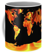 Warming World Map Coffee Mug