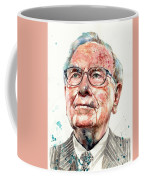 Warren Buffett Portrait Coffee Mug