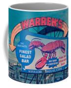 Warrens Lobster House Neon Sign Kittery Maine Coffee Mug