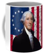 Washington And The American Flag Coffee Mug