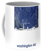 Washington Dc Skyline Map 4 Coffee Mug
