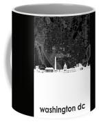 Washington Dc Skyline Map 5 Coffee Mug